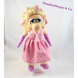 Peluche Peggy la cochonne MUPPET SHOW robe rose 1992 vintage 38 cm