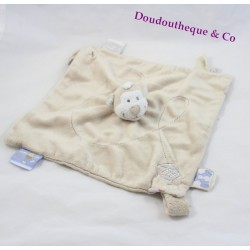 Doudou flat Bono monkey NOUKIE'S Tidou Bill and Bono beige teat attach