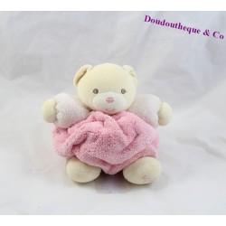 Doudou boule ours KALOO plume rose beige 17 cm