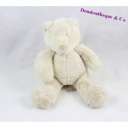 Doudou musical ours MOULIN ROTY Plume et Polochon beige 23 cm