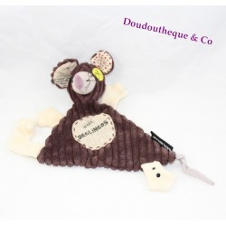 Doudou Ratos rat BABY Brown DEGLINGOS 28 cm dish