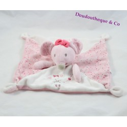 Flat Doudou mouse SIMBA TOYS BENELUX Pink White heart knot