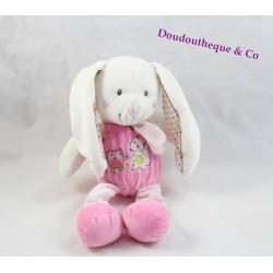 Plush rabbit MOTS D'ENFANTS pink fox owl Leclerc 23 cm