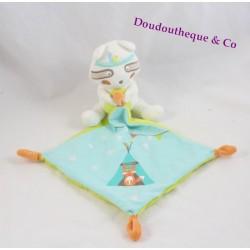 Doudou mouchoir raton laveur POMMETTE indien tipie renard Intermarché 40 cm