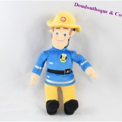 Peluche Sam le pompier GIPSY en tenue de pompier 22 cm