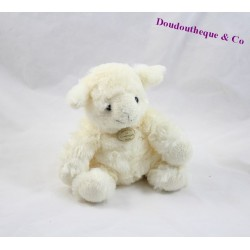 Peluche mouton DOUDOU ET COMPAGNIE blanc 17cm  DC2568