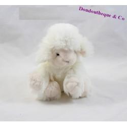 Doudou mouton DOUDOU ET COMPAGNIE blanc 17cm assis