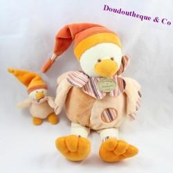 Doudou canard Banjo et son bébé DOUDOU ET COMPAGNIE Les Z'amigolo 30cm
