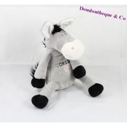 Doudou ane CORSICA gris et noir 29 cm