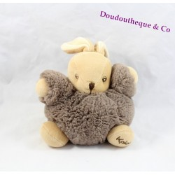 Doudou rabbit KALOO as Brown fur ball 15 cm