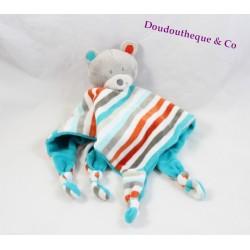 Flat Teddy bear ORCHESTRA striped gray blue red 33 cm