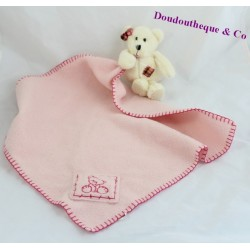 Doudou mouchoir ours ALICE'S BEAR SHOP Tilly 16 cm