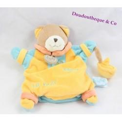 Doudou marionnette chat BABY NAT' Cléo adore la mer jaune bleu