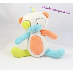 Plush musical panda ORCHESTRA orange green white blue 20 cm