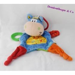 Cow flat Doudou PLAYGRO Toy Box Blue
