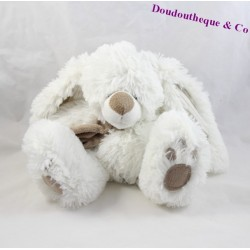 Plush rabbit ENESCO white scarf Brown 21 cm