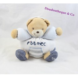 Doudou KALOO Pooh little guy blue denim bear ball 17 cm
