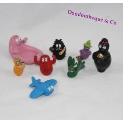 Lot de 8 figurines Barbapapa PLASTOY Pvc jouet