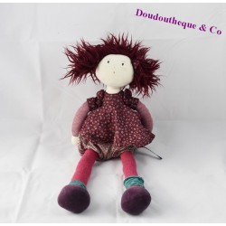 Jeanne MOULIN ROTY doll 38 cm purple dress coquettes