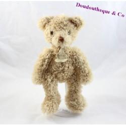 Doudou ours HISTOIRE D'OURS beige poil long 29 cm