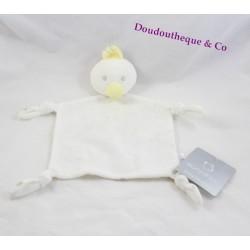 Doudou plat canard PRIMARK EARLY DAYS blanc étoile 27 cm