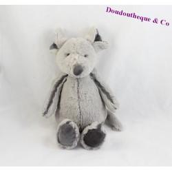 Peluche Lapin SOFT FRIENDS gris et blanc 22 cm