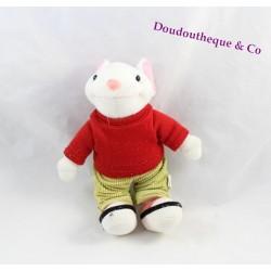Peluche souris STUART LITTLE Goshi t-shirt rouge pantalon kaki 24 cm