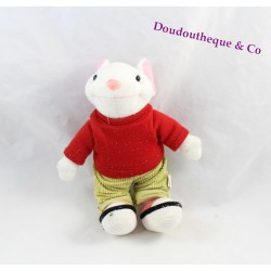 Peluche souris STUART LITTLE Goshi t-shirt rouge pantalon kaki 24 cm