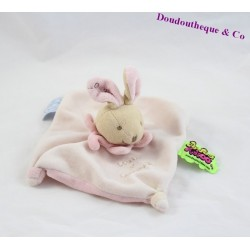 Bunny flat comforter Tatoo DOUDOU ET COMPAGNIE pink and white