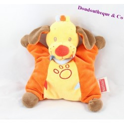 Peluche Chien NATTOU Tim et Lily 22 cm orange
