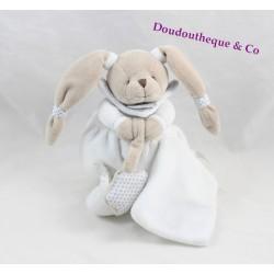 Celeste comforter rabbit DOUDOU ET COMPAGNIE white gray star