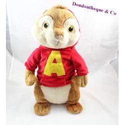 Peluche Alvin GIPSY Alvin et les Chipmunks sweat rouge 40 cm