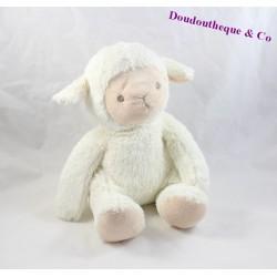Peluche mouton SIMLA blanc beige assis 27 cm