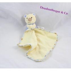 Doudou mouchoir koala PETIPOUCE beige bleu ours doudou éponge