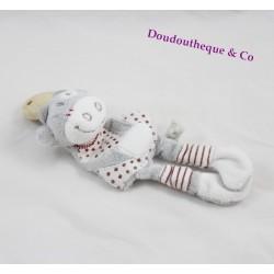 Attache tétine Lolita vache NOUKIE'S Paquito et Lolita gris rouge 20 cm