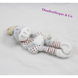 Attached pacifier cow Lolita NOUKIE's Paquito and gray red Lolita 20 cm