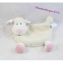 Plush comforter sheep TEX BABY white pink scarf red
