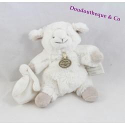 Doudou agneau DOUDOU ET COMPAGNIE Mon tout petit mouton blanc taupe