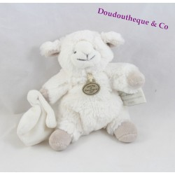 Doudou lamb DOUDOU and company my tiny white sheep taupe