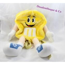 Sac à dos bonbon chocolat M&MS jaune 44 cm