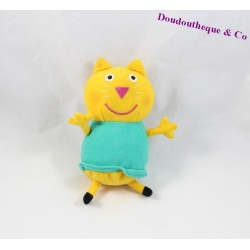 Peluche sonore Candy le chat Peppa Pig robe turquoise 17 cm