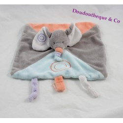 Doudou flat elephant NATTOU spiral Bubbles attached teat 26 cm