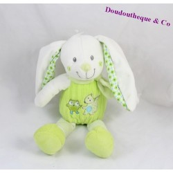 Plush rabbit Mots d'enfants green fox owl