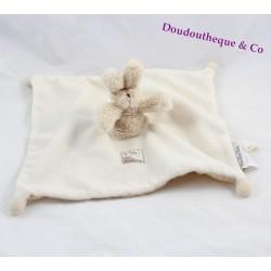 Doudou plat lapin MOULIN ROTY Basile et Lola beige marionnette 28 cm