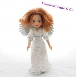 Poupée chiffon peluche Miss Corolle 35 cm COROLLE brune corps rayé robe 2004