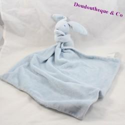 Doudou lapin PRIMARK EARLY DAYS bleu grand mouchoir 47 cm