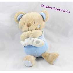 Teddy musical bear TEX BABY blue rocket Junction 24 cm