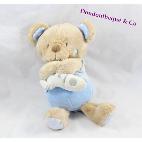 Teddy musical bear TEX BABY blue rocket Junction 24 cm