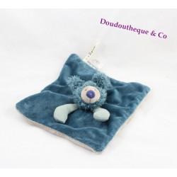 Doudou plat Baba koala MOULIN ROTY Les Zazous bleu gris 21 cm
