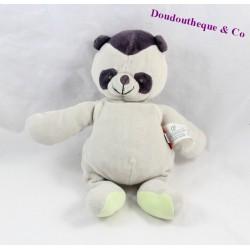 Doudou panda MARESE gris marron 25 cm